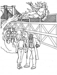 kleurplaat Fantastic Four (30)