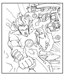 kleurplaat Fantastic Four (36)