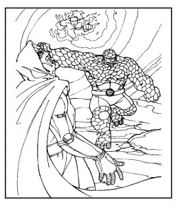 coloring page Fantastic Four (37)