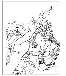 kleurplaat Fantastic Four (39)