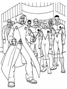 målarbok Fantastic Four (4)