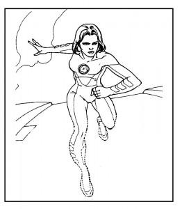 kleurplaat Fantastic Four (43)