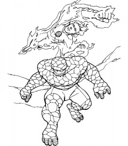 kleurplaat Fantastic Four (44)
