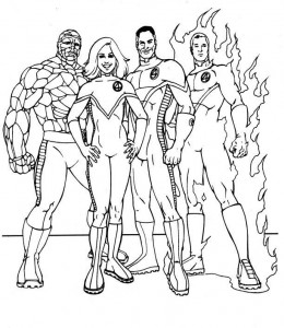coloring page Fantastic Four (5)