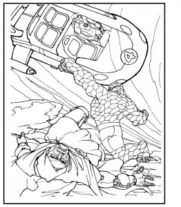 coloring page Fantastic Four (6)