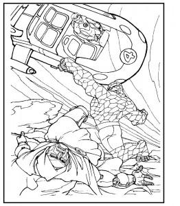 kleurplaat Fantastic Four (6)