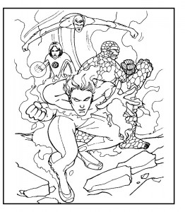 coloring page Fantastic Four (7)
