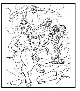 kleurplaat Fantastic Four (7)