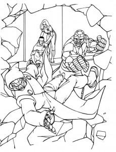 kleurplaat Fantastic Four