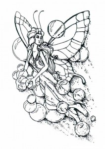 målarbok Fairies (1)