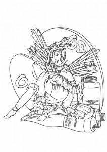 målarbok Fairies (10)