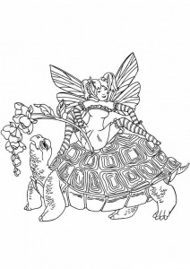 coloring page Fairies (13)