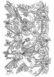 målarbok Fairies (2)