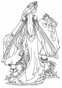 coloring page Fairies (4)