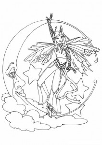 målarbok Fairies (5)