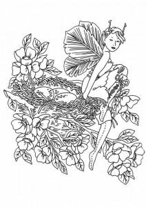 målarbok Fairies (7)