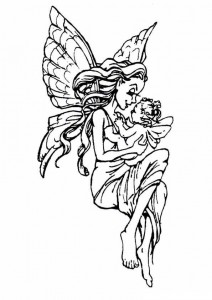 målarbok Fairies