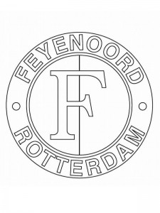 coloring page feijenoord