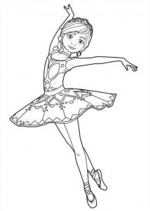 kleurplaat Félicie dans
