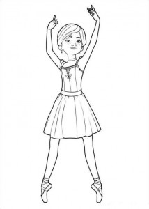 coloring page Félicie pointed