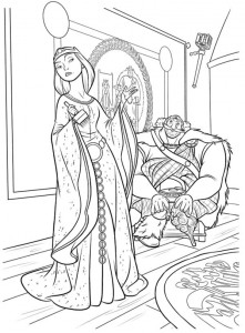 coloring page Fergus and Elinor