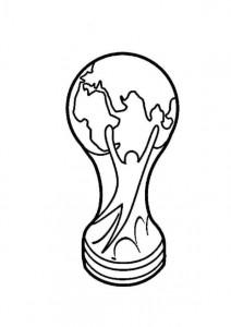 kleurplaat Fifa world cup