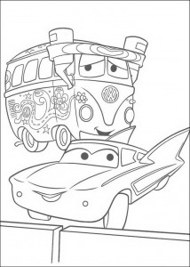 coloring page Fillmore and Flo