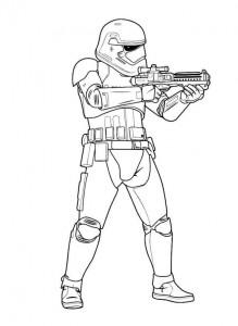 målarbok Första ordningen stormtrooper