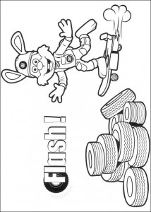 coloring page Flash (1)