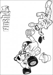 coloring page Flash and Roary