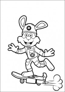 coloring page Flash on his skateboard