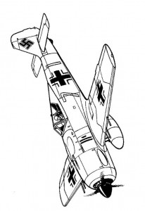 coloring page Focke Wulff Fw 190A-2 1942