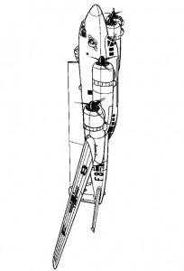 coloring page Focke-Wulff FW 200CI Condor 1940