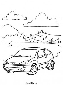 coloriage ford focus