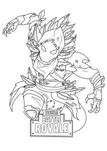 coloring page Fortnite
