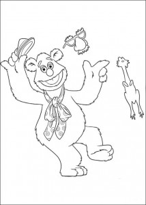 coloring page fozzie 2