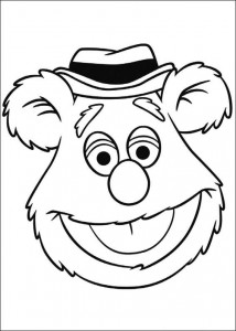 coloring page fozzie
