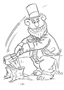 coloring page Fozzy as Abraham Lincoln