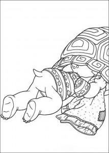 Dibujo para colorear Franklin se mete en su escudo