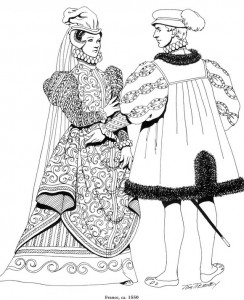 coloring page France, 1550