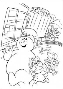 kleurplaat Frosty (11)