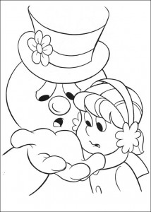 kleurplaat Frosty (15)