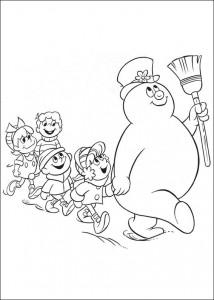 kleurplaat Frosty (17)