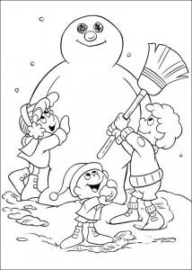 kleurplaat Frosty (2)