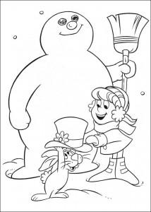 kleurplaat Frosty (21)