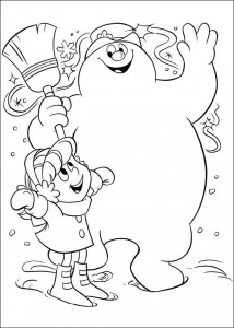 kleurplaat Frosty (5)