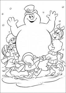 kleurplaat Frosty (6)