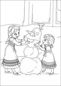 kleurplaat Frozen (1)