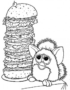 coloring page Furbie (1)