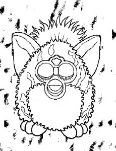 coloring page Furbie (11)